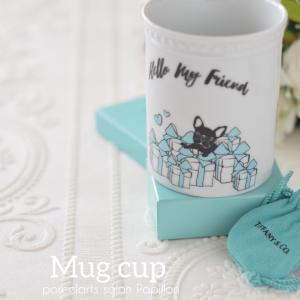 ティファニーBOXに埋もれてるフレンチブルちゃん♡マグカップ