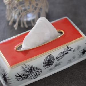 モノトーンなHawaii♡被せるだけの便利なティッシュBOXの白磁