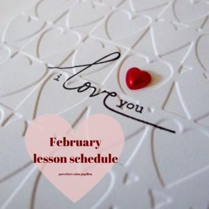 2020.2月♡Lesson schedule