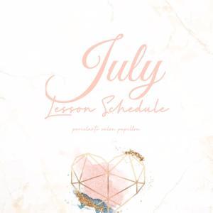 2020.7月♡Lessonschedule