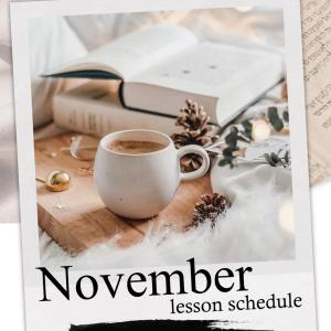 2020.11月♡lesson schedule