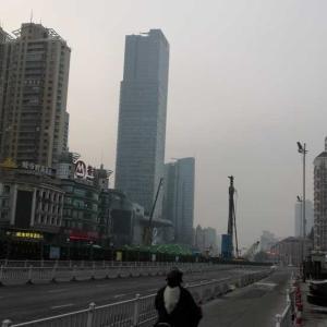 冷えたら着こむ江蘇省、上海