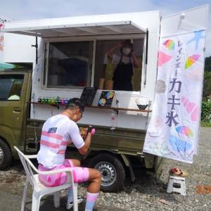 かき氷~キッチンカーで・・国道413号 道志道 タカギの畑直売所にて