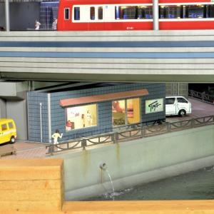 新押入線・左高架下の小さな建物②完成