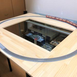 大きい押入線、仮設運転板