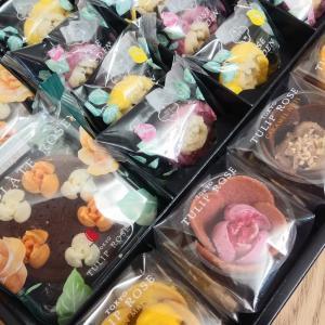 東京チューリップローズの素敵スイーツ&トレーダー・ジョーズのレモンペッパー~バラのリボン
