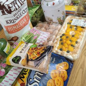 コストコ♪マンゴースコップケーキ&ピーターラビット紅茶缶~八重桜の花言葉「豊かな教養」
