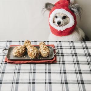 犬のクリスマスレシピ②骨なし&揚げないチキン