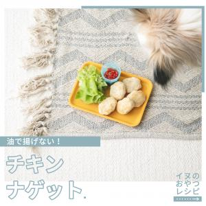 犬のおやつに揚げないチキンナゲットを作ってみよーう(いぬのきもち掲載手作り犬おやつレシピ)