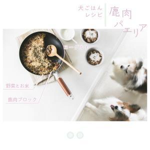 【犬ごはんレシピ】フライパンで作れる鹿肉の簡単パエリア(手作りドッグフード)