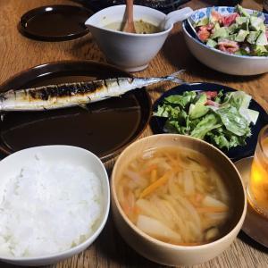 秋の我が家の晩御飯