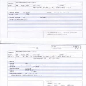 電気使用量と余剰購入電力量の精査「2019年9月分 ミニソーラー横浜青葉発電所」
