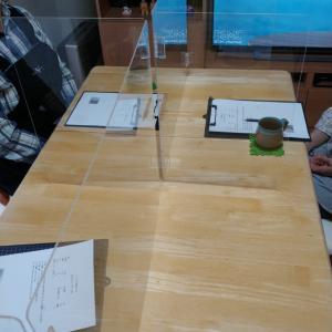 天然酵母レッスンとアクリル板
