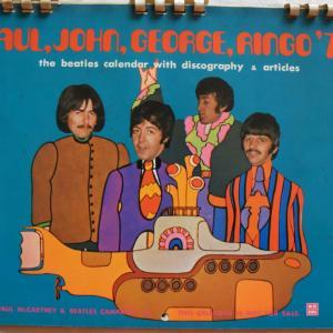 ザ・ビートルズ、ポール、ジョン、ジョージ、リンゴ、1976年カレンダー、東芝EMI