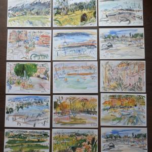セツ先生、長沢 節先生、セツ・モード・セミナー、1999年、千葉県大原町、風景画、男と女