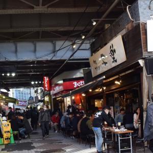 上野広小路、アメ横、上野公園、賑わう昼間の居酒屋、宝くじ、青いパンダ、ありがとうシャンシャン