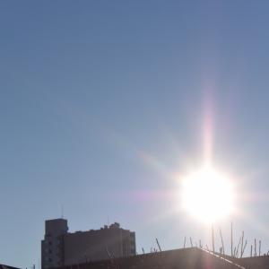 朝8時の東の空、最高気温が5.7度があれば最高気温が18.7度もあった体調が変になった1週間