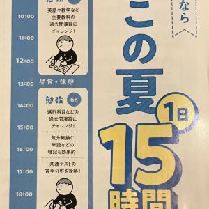 高校3年は、1日15時間の学習をしている!