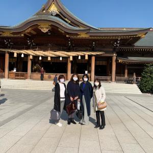 寒川神社参拝ランチだんしゃべり会 開催しました