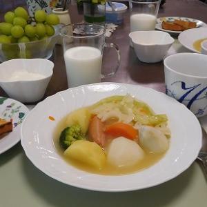 ポトフと豆苗たまごスープ