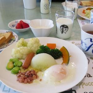 新玉ねぎとゆで野菜のアンチョビ温泉卵ソース