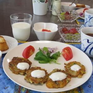 ズッキーニのトルコ風チーズお焼き