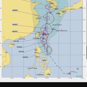 またまた台風
