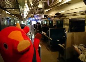 幻想的!「道南いさりび鉄道」の夜景列車♪