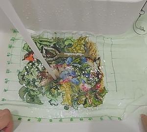 本当に消えるの?布に描いた100円ショップの水性ペン「ニャンとも楽しいクロスステッチ刺繍」