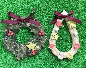 陶器のクリスマスリース作り!