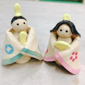 陶器のひな人形作り教室♪
