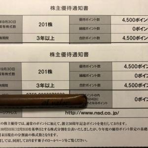 NSD★株主優待到着