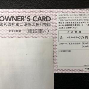 【優待生活】イオンオーナーズカードのキャッシュバック通知