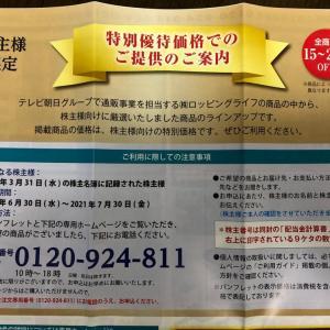 テレビ朝日ホールディングス★端株主優待到着