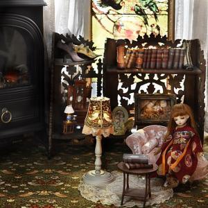 人形用フロアランプ作りとインテリア ウィリアム・モリス柄が好き