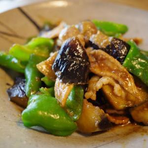 茄子とピーマン、豚肉の味噌炒め