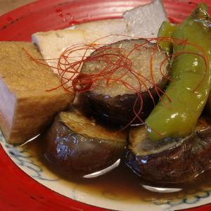茄子、南蛮と厚揚げの煮物