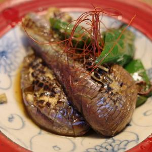 茄と南蛮の焼き浸し 素麺の具に最適です