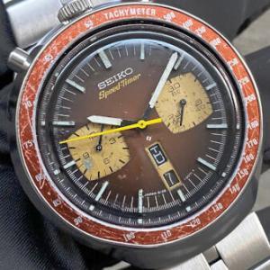 セイコー スピードタイマー茶馬 REF.6138-0040 1975年製 通称 茶馬、ツノ、BULLHEADと呼ばれる人気モデルです 純正ブレス仕様