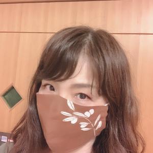 柿渋染のマスク、お気に入りになりそう