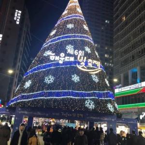 釜山のクリスマスツリー
