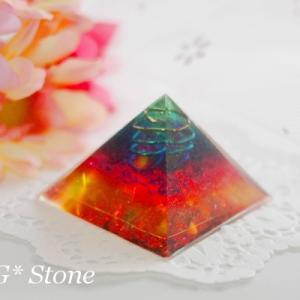 【若番特価】不思議雰囲気ピラミッド型オルゴナイト♪