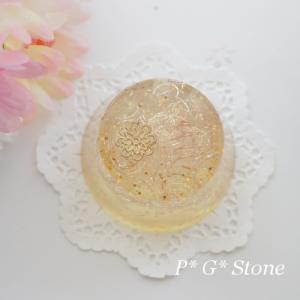 【若番黄変特価】マニカラン水晶入りラウンド型オルゴナイト♪