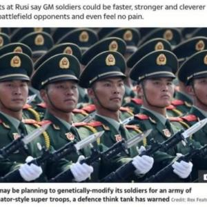 中国が遺伝子組み換えターミネーター兵士製造へ
