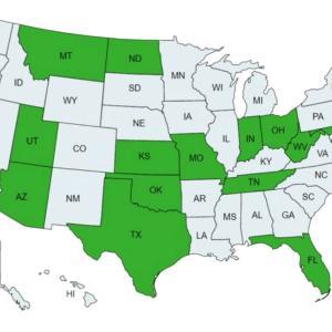 アメリカの15の州が抵抗