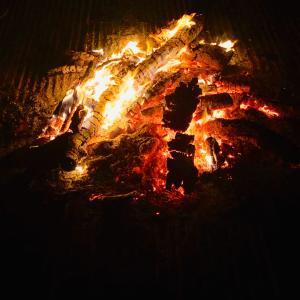 炎と小豆で厄祓い