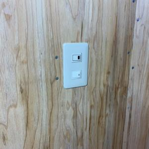 2階北西側リノベーション 電気配線