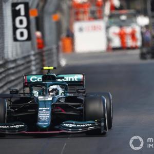 Aston's Vettel finished fifth in Monaco