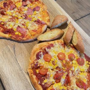 生イーストで作ったピザ