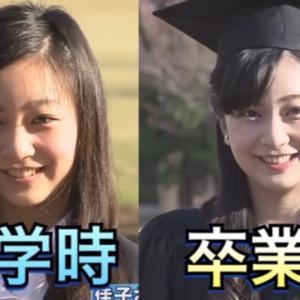 【動画】佳子さま 国際基督教大学 入学時 と 卒業時 比較動画